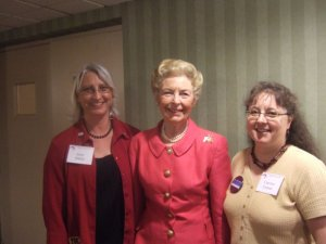 SUNACRW President Irene Harris, Eagle Forum Founder Phyllis Schlafley and Carolyn Conner, SUNACRW V.P. for Union County